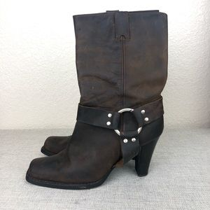 Michael Kors Western Leather Boots sz 9